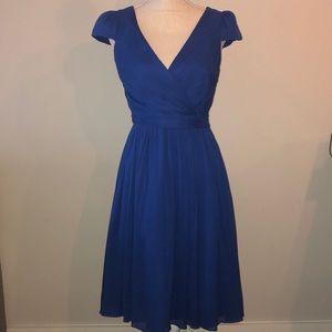 J. Crew mirabelle silk chiffon wrap dress